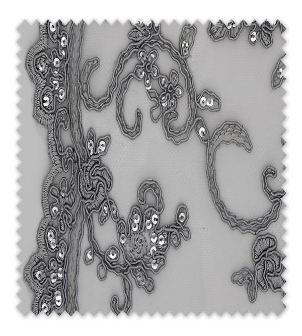 Encaje Brillo Plata