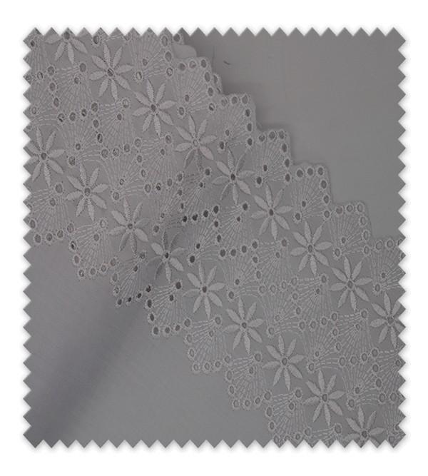 Tira Bordada 18cm blanca